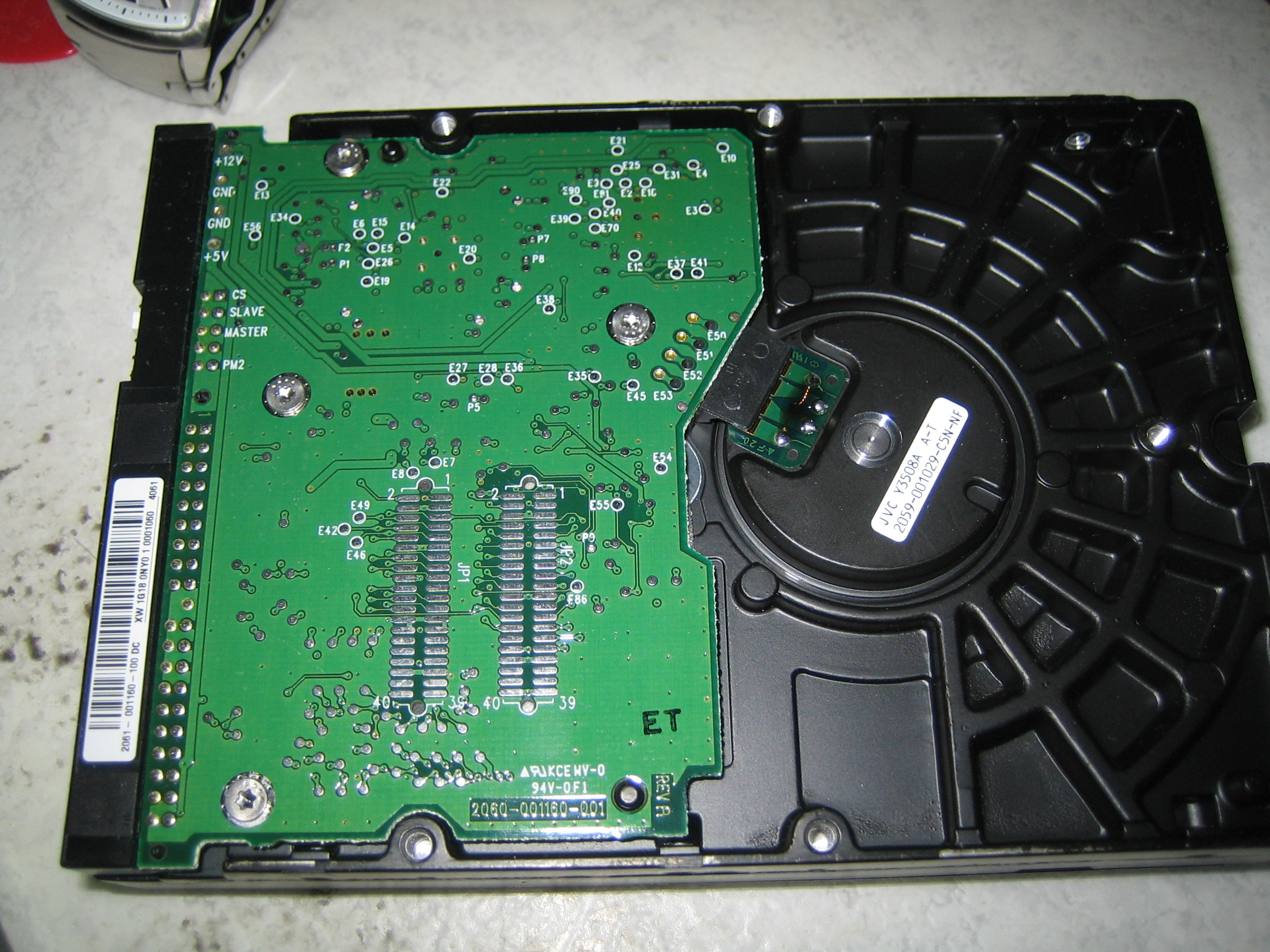How To Repair A Damaged Pcb Board Wd1200 Hard Drive Circuit For Data Recovery Img 0182