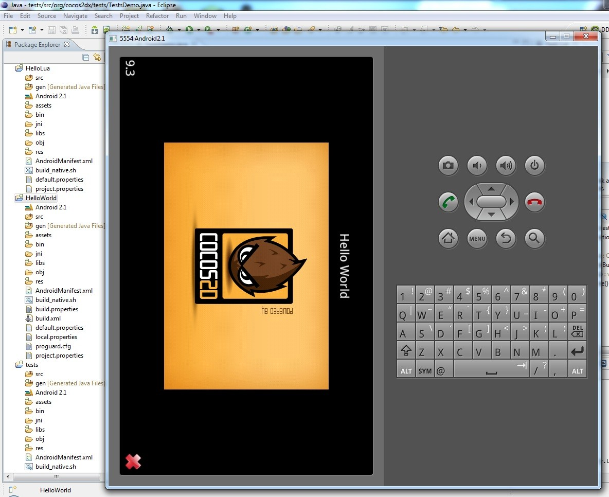 How to setup cocos2d x windows and android multigesture running tests baditri Choice Image